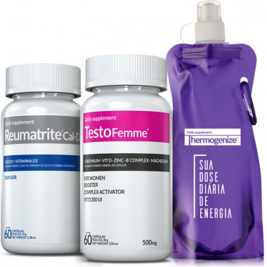 TestoFemme® + Reumatrite® Cal-D3 + Squeeze Inove Nutrition
