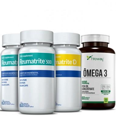Kit 2 Reumatrite® 500 + 1 Reumatrite® D + 1 Omega 3 60 Caps Grátis