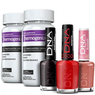 Kit 2 Thermogenize Femme® + 3 Esmaltes Grátis (cores variadas)