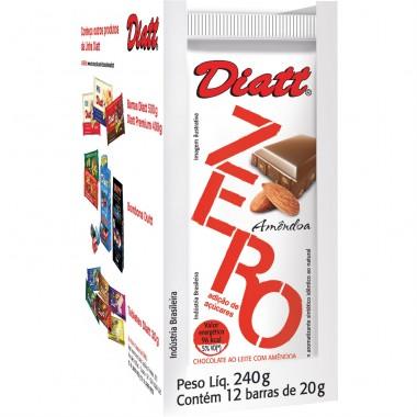 Chocolate Zero 12 barras de 20g Diatt
