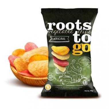 Chips de Mandioca e Batatas-Doces (Original) 45g Roots ToGo