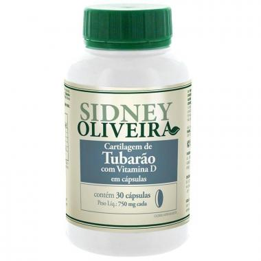 Cartilagem de Tubarão + Vitamina D 750mg - Sidney Oliveira 30 Cápsulas