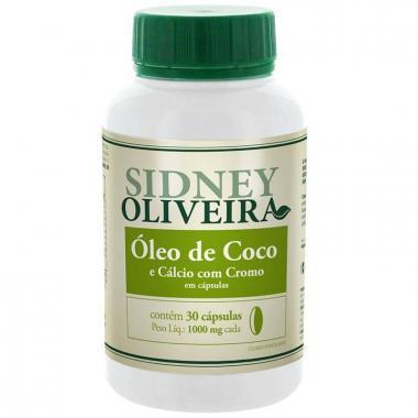 Óleo de Coco + Cálcio + Cromo 1000mg - Sidney Oliveira 30 Cápsulas