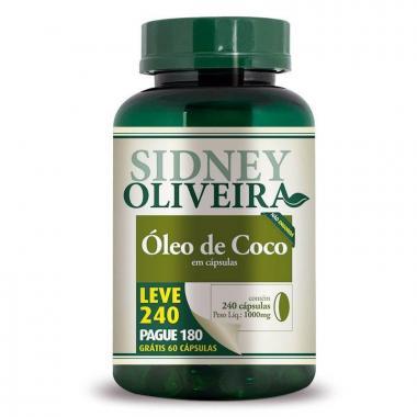 Óleo de Coco 1000mg - Sidney Oliveira Leve 240 Pague 180 Cápsulas