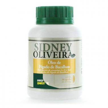 Óleo de Fígado de Bacalhau - Sidney Oliveira 50 Cápsulas