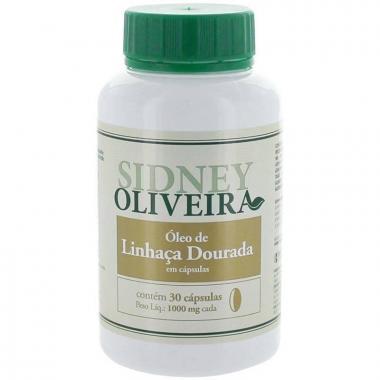 Óleo de Linhaça Dourada 1000 mg - Sidney Oliveira 30 Cápsulas