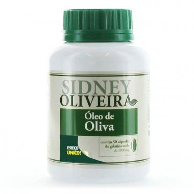 Óleo de Oliva 1000mg - Sidney Oliveira 50 Cápsulas