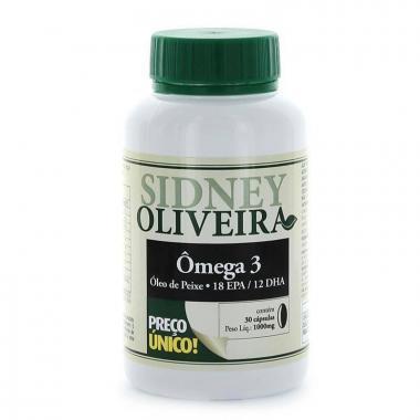 Ômega 3 Óleo de Peixe 1000mg - Sidney Oliveira 30 Cápsulas