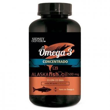 Ômega 3 Óleo de Peixe Concentrado 500 mg Alaska 200 Cápsulas