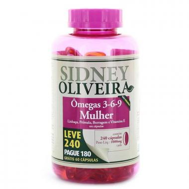 Ômega 3-6-9 Mulher - Sidney Oliveira Mulheres Ativas Leve 240 Pague 180 Cápsulas