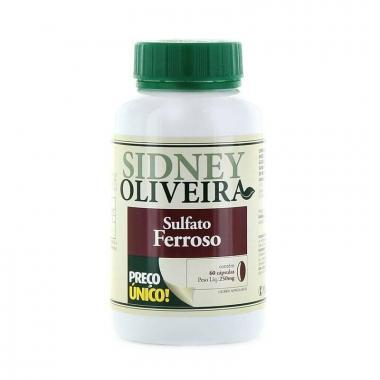 Sulfato Ferroso - Sidney Oliveira 60 Cápsulas