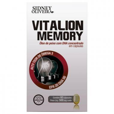 Vitalion Memory Ômega 3 500mg - Sidney Oliveira 60 Cápsulas