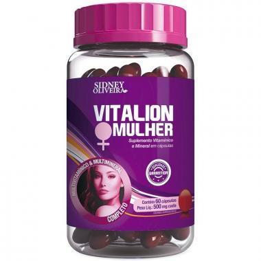 Vitalion Mulher Polivitamínico + Minerais 500 Mg - Sidney Oliveira Com 60 Cápsulas