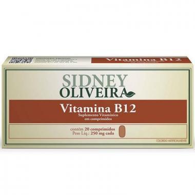 Vitamina B12 250mg - Sidney Oliveira 20 Comprimidos