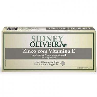 Zinco + Vitamina E 304mg - Sidney Oliveira 20 Comprimidos