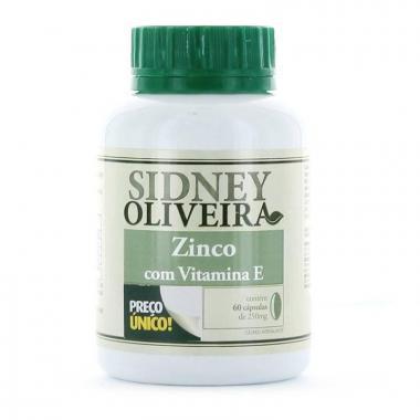 Zinco 7 Mg + Vitamina E - Sidney Oliveira 60 Cápsulas