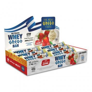 Whey Grego Bar 40g (12 barras) Nutrata