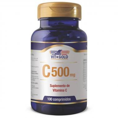 Vitamina C 500mg 100 comprimidos Vit Gold