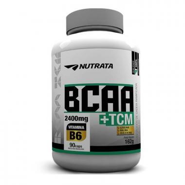 BCAA 24000mg +TCM 90 cápsulas Nutrata