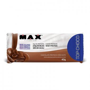 Top Choco 40g Chocolate Proteico Crocante Max Titanium