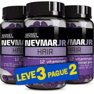 Neymar Jr Hair 700mg 60 Cápsulas (Leve 3 Pague 2)