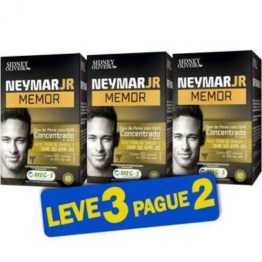 Neymar Jr Memor Ômega 3 500mg 60 Cápsulas (Leve 3 Pague 2)