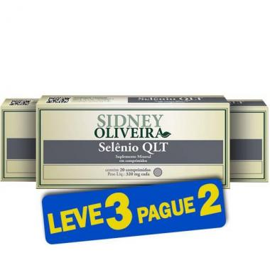 Selênio Qlt 34 Mcg - Sidney Oliveira 20 Comprimidos (Leve 3 Pague 2)