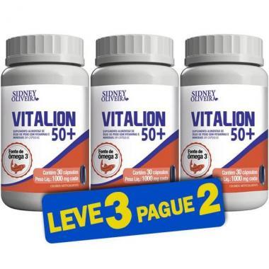 Vitalion 50+ 1000mg - Sidney Oliveira 30 Cápsulas (Leve 3 Pague 2)