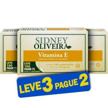 Vitamina E 10mg - Sidney Oliveira Leve 100 Pague 75 Comprimidos (Leve 3 Pague 2)
