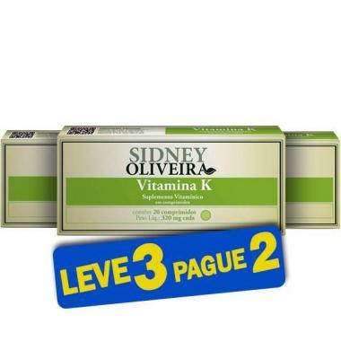 Vitamina K 320mg - Sidney Oliveira 20 Comprimidos (Leve 3 Pague 2)