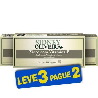 Zinco + Vitamina E 304mg - Sidney Oliveira 20 Comprimidos (Leve 3 Pague 2)