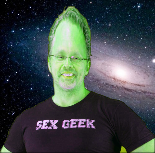 Reid as green alien