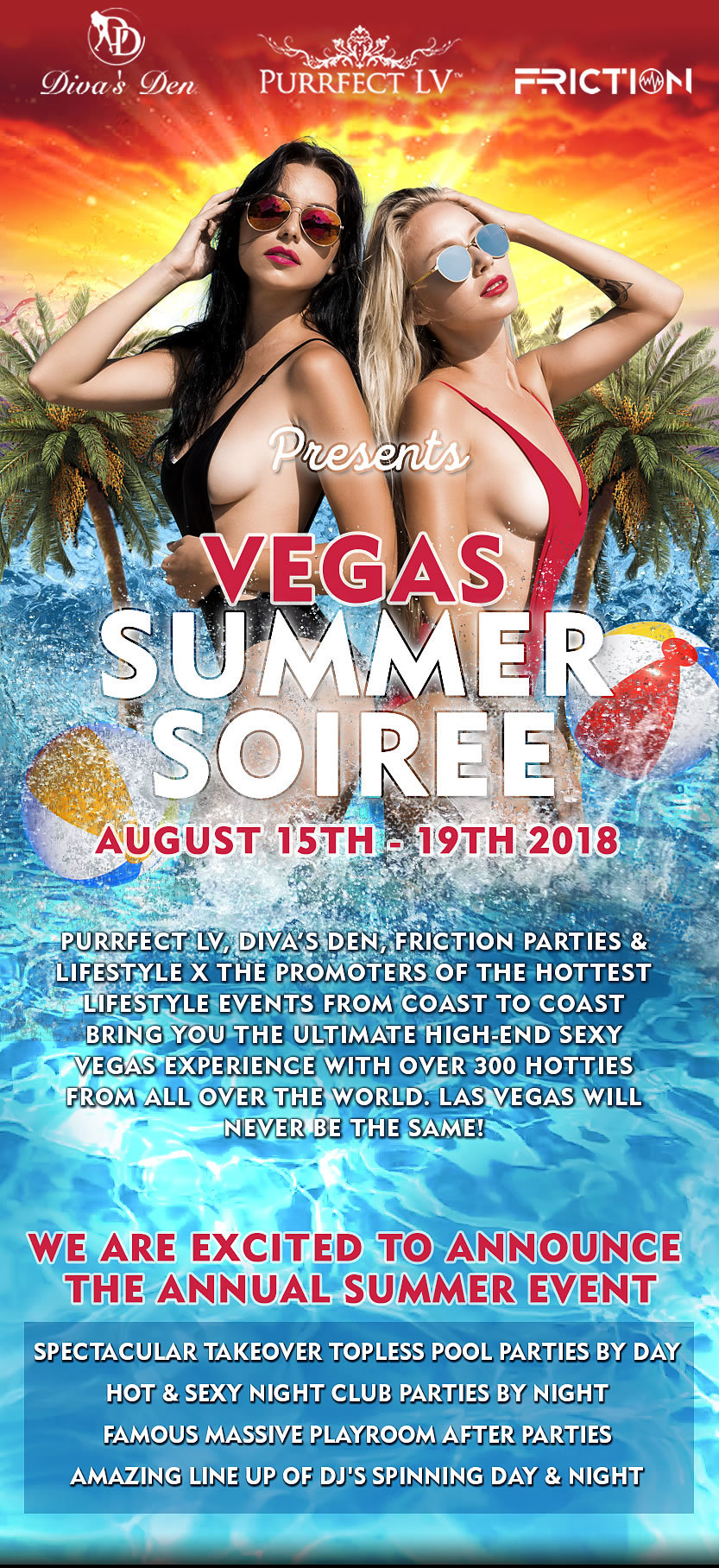 Vegas Summer Soiree - August 15th - 19th, 2018 - Swinger Party