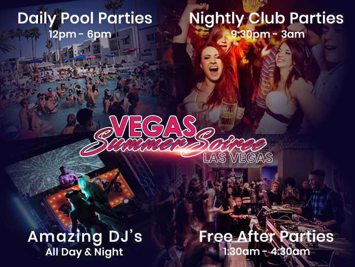 Las Vegas Swinger Party - Vegas Summer Soiree 2019 Party Schedule