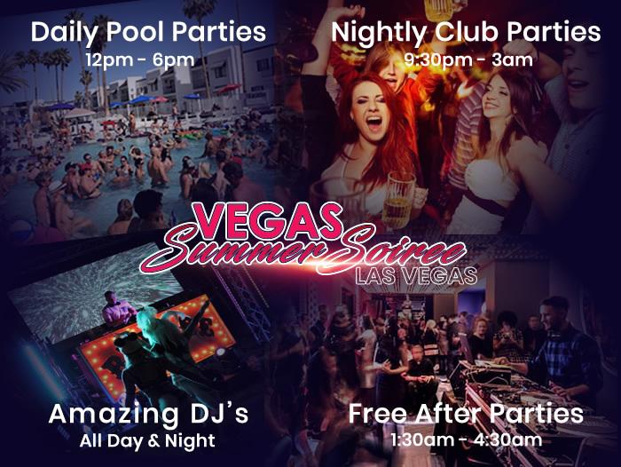 Las Vegas Swinger Party - Vegas Summer Soiree 2019 Party Schedule