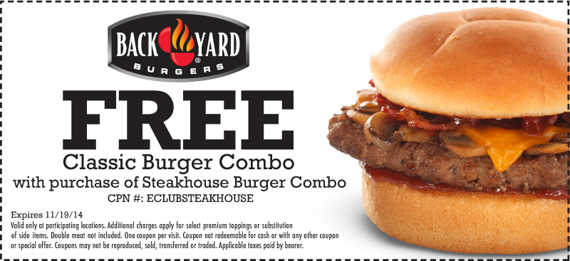 Backyard Burger Locations back yard burgers special offer