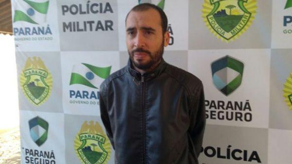 Marcelo Gimenes Natel, de 29 anos, foi localizado escondido na parte superior de um barracão rural (Foto: Noti-cia.com)