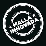 Logo malla innovadora en blanco y negro