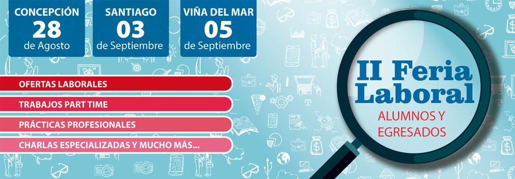 Feria Laboral 2019 UNAB Santiago, Viña del Mar y Concepción