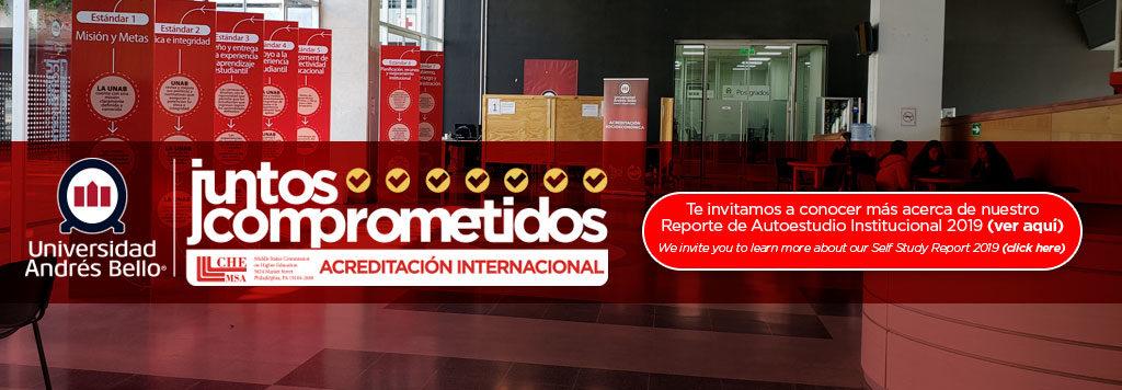 Slide Reportes de Autoevaluación Institucional en inglés y español UNAB
