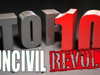 Uncivil Revolt's weekly top 10