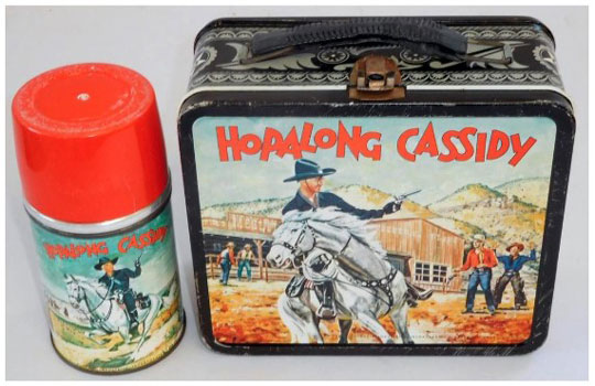 Hopalong Cassidy metal lunch box & thermos set