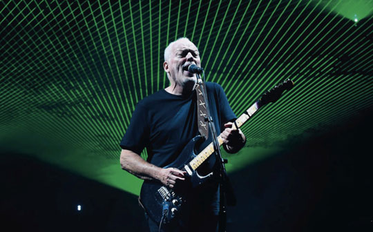 David Gilmour and his prized Black Strat