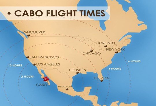 Cabo Flight Times from North America