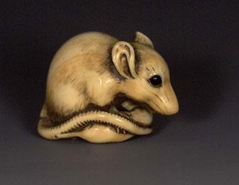 Cute Netsuke Mouse