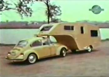 Check out a video of a classic '74 VW pulling 5th Wheel