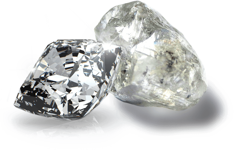 cut and rough diamonds