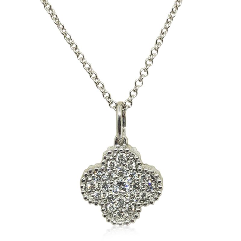 Quatrefoil Diamond Pendant