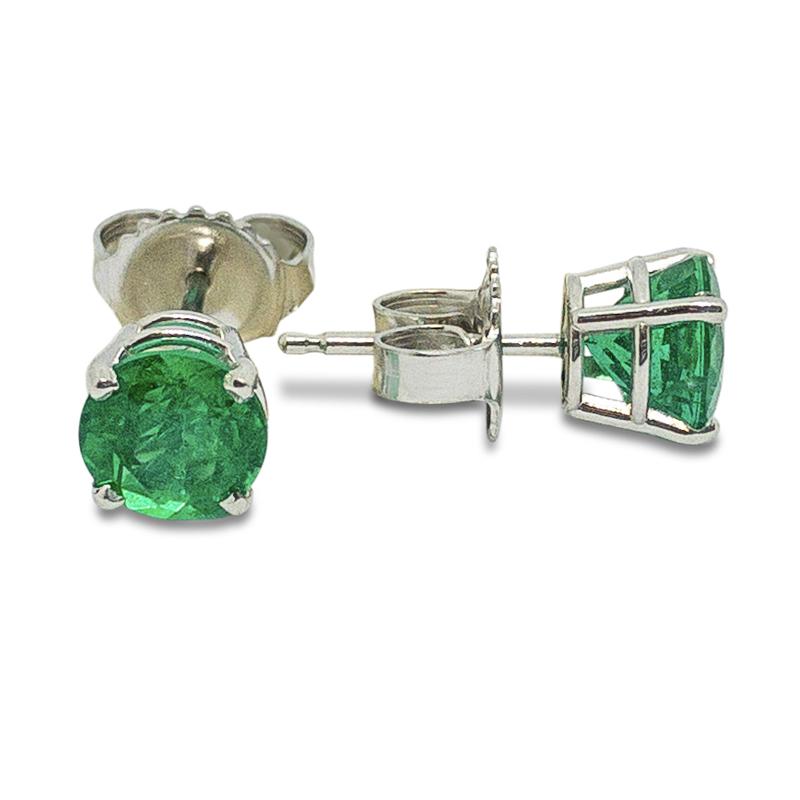 1.69ctw. Emerald Studs