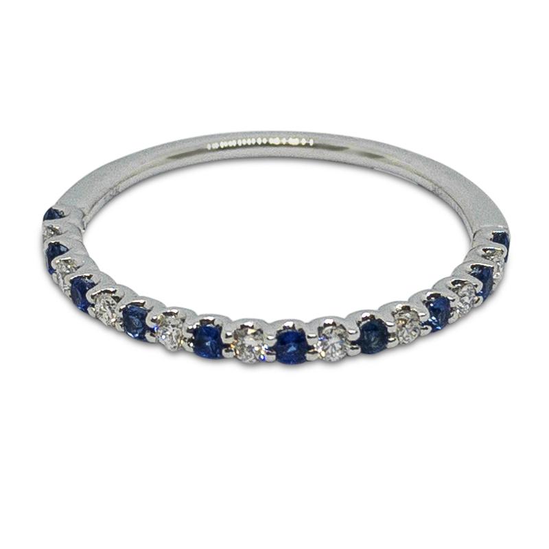 Diamond & Sapphire Band
